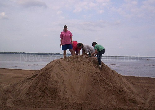 Climbing the Sand Mountain