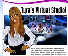Tyra's virtual studio
