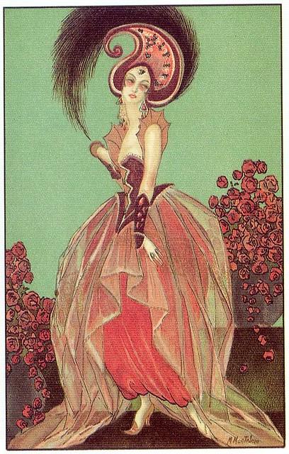 M. Montedoro, Art Deco postcard 3, 1920s