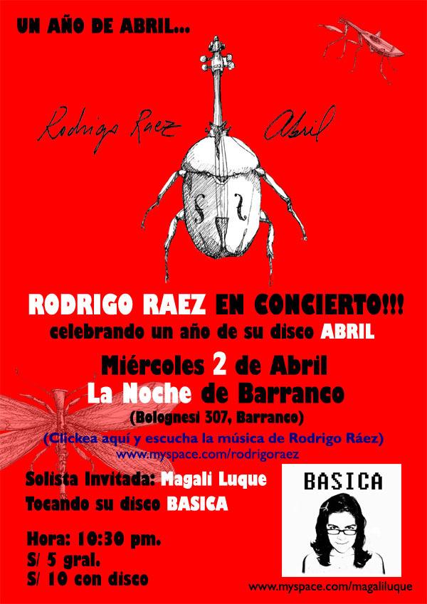 Afiche Rodrigo Raez