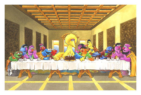 Sesame Street Last Supper