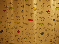 Ikea Shower Curtain (Albita.) Tags: house cute ikea animals bathroom mono casa funny colours colores animales colourful bao amaia showercurtain vitoria colorido cortinadebao