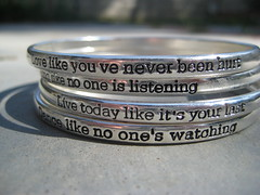 love like you've never been hurt,  #142 in explore ! (ashley rose,) Tags: shadow sun inspiration macro canon silver shine powershot explore quotes bracelets explored ashleyrose sd750 canonpowershotsd750 groudn ashleyrosex