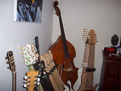 The Al Caldwell guitar arsenal (beaushelby) Tags: fashion vancouver magazine comics artist folk cd famous humor cartoon pop bands artists amusementpark nytimes concerts relationships britney cartoons lohan armani bassplayer bloopers drewbarrymore bbcnews