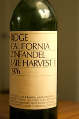 1976 Ridge Esola Ranch Late Harvest Zinfandel II
