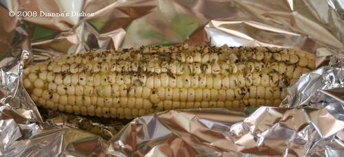 Oven Roasted Corn on the Cob with Thyme: Sprinkled and Ready