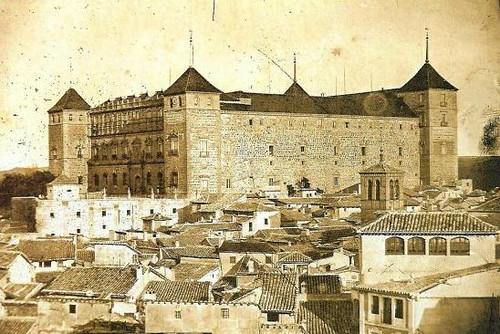 Alcázar d eToledo, España, hacia 1880