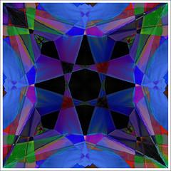 Kite Kaleidoscope (hz536n/George Thomas) Tags: blue summer kite abstract oklahoma stillwater cs3 canon30d canonef70200mmf4lusm