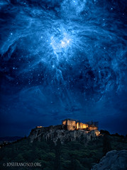 Orion Rising (josefrancisco.salgado) Tags: usa night evening noche nocturnal lasvegas space nevada athens nasa explore greece grecia orion photomontage nocturna astronomy mandalaybay acropolis esa napp finalist photoshopworld spitzerspacetelescope nationalassociationofphotoshopprofessionals hubblespacetelescope stsci photoshopguruaward