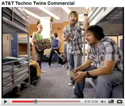 Techno Twins Comercial from AT&T on YouTube