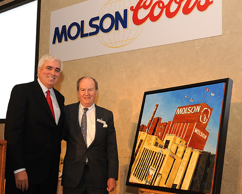 Molson CEO Kevin Boyce and Eric Molson