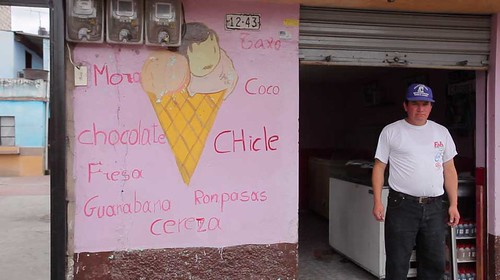 Video Still: An ice cream shop in Riobamba.
