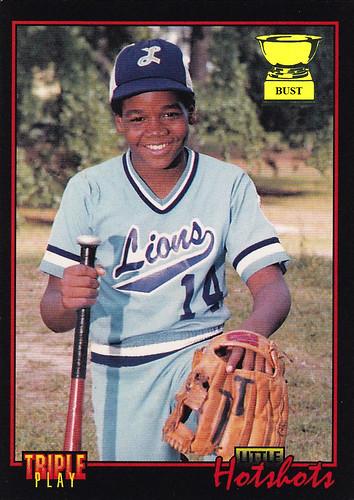 Baseball Card Bust Frank Thomas 1993 Donruss Triple Play Little