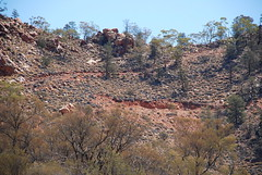 access tracks and drilling benches on the flanks of mount gee - link to my Arkaroola Sanctuary - would U mine it? set on flickr