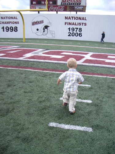 Running to the End Zone!