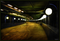 Walk this way (Kaj Bjurman) Tags: autumn color canon eos sweden stockholm tunnel hdr kaj globen 2007 gullmarsplan cs3 photomatix 40d diamondclassphotographer bjurman
