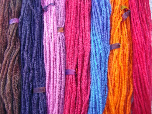 Hand Dyed Wool Yarn