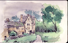 english cottage, watercolor (mike thomas) Tags: english moleskine architecture sketch flickr drawing cottage line brushpen pentel danielsmith lineandwash