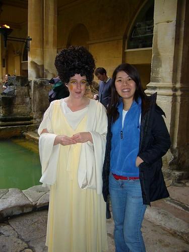 Shirley and her kaki at Roman Baths