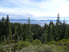 View of Lake Tahoe from Tahoe Rim Trail (Tahoe City, California, United States) Photo