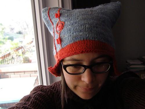 geometric earflap hat - front