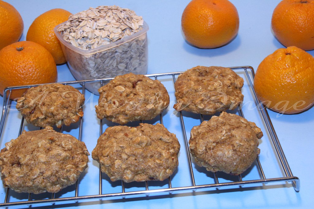 Orange Oatmeal Cookies (w/recipe)