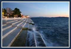 Sea organ ~ Zadar (felber) Tags: blue sunset sea architecture lights mare riva croatia bleu more zadar croazia zara croacia croatie dalmatia smrgsbord kroatien blueribbonwinner felber dalmazia 10faves seaorgan nikolabasic 5for2 nikolabai aplusphoto morskeorgulje