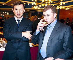 Oleg Deripaska und Roman Abramowitsch