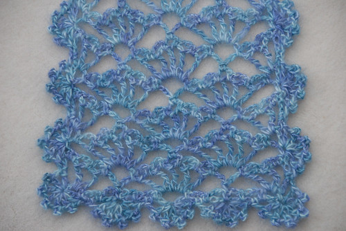 Crochet Lacy Scarf Closeup