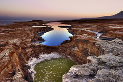 Terra Nova- Lowest place on earth (xnir) Tags: trip travel sea landscape dead israel interesting scenery view place earth great best explore lowest  ein gedi nir  benyosef swallowhole wwwxnircom xnir  deadseaymhamelasaltsea423metres1 388ftbelowsealevellowestelevationontheearthssurfaceendorheichypersalineseaofsaltplaceearthdeadseaisraelnirxnirswallowholeeingedibestexploretravelland photoxnirgmailcom