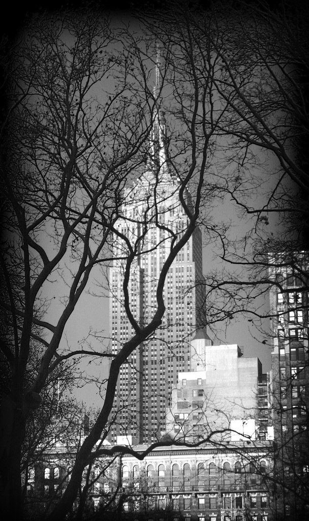 "Black & White ""Lomo"" Empire State Building"