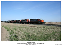 Dakota Rails (Robert W. Thomson) Tags: railroad cn train diesel railway trains northdakota locomotive trainengine dakota canadiannational geep emd gp40 fouraxle dmvw dakotamissourivalleywestern gp402lw custersiding custermine