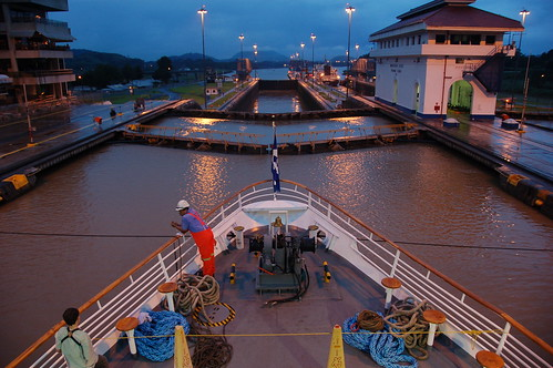 The Panama Canal Miraflores Locks, by Scott Ableman (via Flickr)