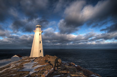 (iJohn) Tags: ocean light sunset sea sky lighthouse clouds newfoundland waves atlantic capespear wbnawcnnl
