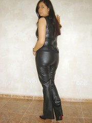Pleaser tacon rojo 1 (lady_dulciny_boots) Tags: leather pumps pants lack charol