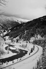 Railroad (Designer Scott) Tags: winter landscape montana glaciernationalpark flickrchallengegroup