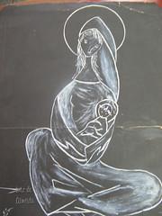 Religiosidade (Luiz de Almeida) Tags: de jesus canson crayon lpis cor modernismo almeida desenho senhora segall religio mrio nossa modernista andrade tarsila cavalcanti malfatti desenhista piraju nanguim