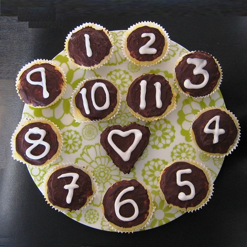countdown cup cakes
