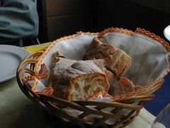 Bread in typical napkin