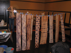 Kakishibu scarves