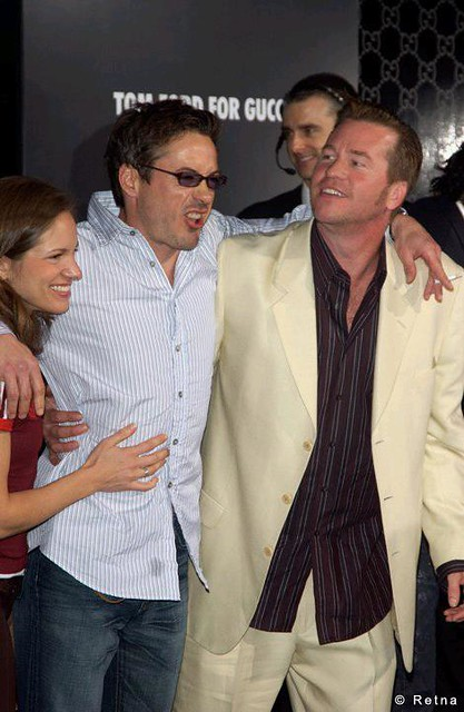 Robert Downey Jr, Val Kilmer, and John Squatritto - Tom Ford Gala for Rodeo Drive Walk of Style, March 2004 by srk1941
