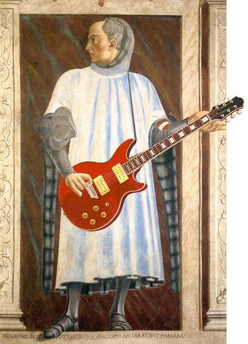 Niccolò Acciaiuoli Waits for the Band, after the fresco by Andrea del Castagno