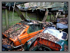 Abandoned cars (Ni1050) Tags: auto 2002 roof friedhof orange classic abandoned broken nature car vw barn germany volkswagen mnchen deutschland bavaria lumix hall rust flickr decay steel cemetary rusty places voiture historic 02 oxidation bmw nrw vehicle oldtimer junkyard 2008 rost desolate derelict macchina abandonment corrosion touring rostig neue ghia klasse nk karmann stahl bimmer historisch scheune youngtimer klassiker korrosion verfall klassik autofriedhof kfz newclass neueklasse schrottplatz brokenroof typ14 02series 02er aufgegeben verrotten tz3 bmw2002touring ni1050 eingestrztesdach scheuenfund