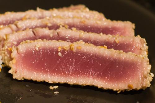 Pan-Seared Sesame-Crusted Ahi Tuna