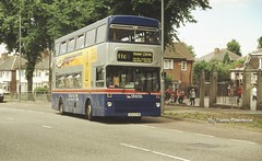 Remember the days of the old school yard. (Lady Wulfrun) Tags: road travel school west yard circle play hill ground route marsh outer perry 11c barr midlands metrobus erdington 2213 woodmore gog312w