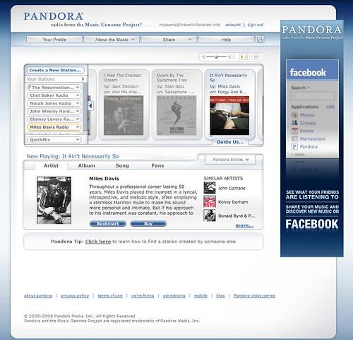 Pandora: Miles Davis Radio