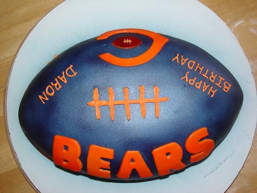 Super Chicago Bears Birthday Football Cake Charley Salas Sbcglobal Net Funny Birthday Cards Online Fluifree Goldxyz