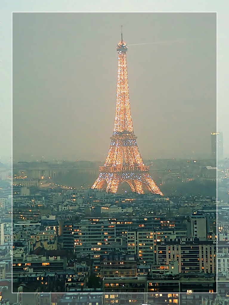 Bad weather over the Eiffel Tower