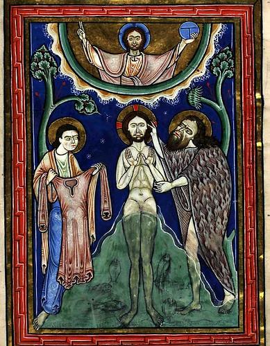 13 recto -El bautismo de Cristo