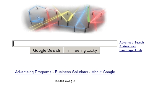 Google Laser Logo: May 16, 2008